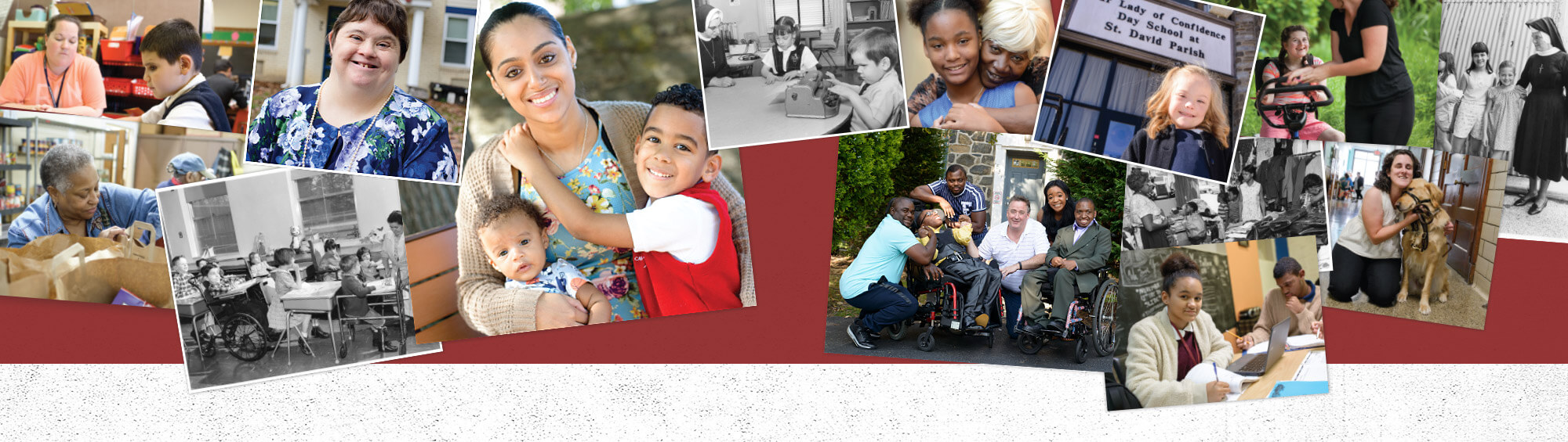 Collage of Catholic Charities Appeal photos